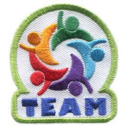 Team, People, Circle, Colours, Working Together, Cooperation, Patch, Embroidered Patch, Merit Badge, Badge, Emblem, Iron On, Iron-On, Crest, Lapel Pin, Insignia, Girl Scouts, Boy Scouts, Girl Guides
