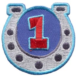 Horseshoe, Guides, Game, One, 1, First, Year, Patch, Embroidered Patch, Merit Badge, Badge, Emblem, Iron On, Iron-On, Crest, Lapel Pin, Insignia, Girl Scouts, Boy Scouts, Girl Guides