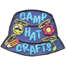 Camp Hat Crafts - Metallic (Iron On)