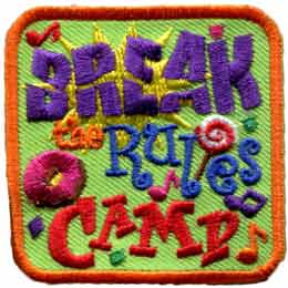 Break The Rules Camp (Iron On)