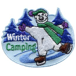 Winter Camping Bear (Iron On)