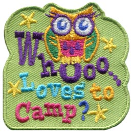 Whooo Loves To Camp? (Iron On)