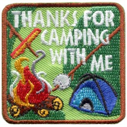 Thanks For Camping With Me (Iron On)