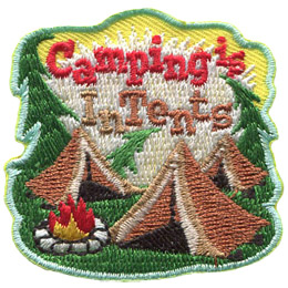 Camping is InTents (Iron On)