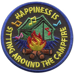 Happiness is Sitting Around the Campfire (Iron On)