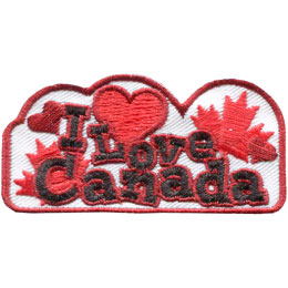 Canada, Love, Heart, Ottawa, Toronto, Vancouver, Maple Leaf, Leaf, Patch, Embroidered Patch, Merit Badge, Badge, Emblem, Iron On, Iron-On, Crest, Lapel Pin, Insignia, Girl Scouts, Girl Guides