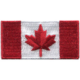 Canada Flag 2.5x1.25 (Iron On)