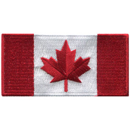 Canada Flag 4x2 (Iron On)