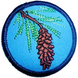 White, Pine, Patrol, Leader, Tree, Plant, Nature, Water, Patch, Embroidered Patch, Merit Badge, Iron On, Iron-On, Crest, Girl Scouts, Boy Scouts, Girl