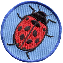 Patrol, Badge, Lady, Lady Bug, Insect, Embroidered Patch, Merit Badge, Badge, Emblem, Iron On, Iron-On, Crest, Lapel Pin, Insignia, Girl Scouts, Boy Scouts, Girl Guides