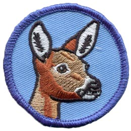 Patrol, Badge, Deer, Fawn, Stag, Bambi, Patch, Embroidered Patch, Merit Badge, Badge, Emblem, Iron On, Iron-On, Crest, Lapel Pin, Insignia, Girl Scouts, Boy Scouts, Girl Guides