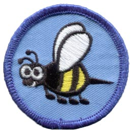 Bumble, Bee, Circle, Insect, Honey, Hive, Pollen, Patch, Embroidered Patch, Merit Badge, Badge, Emblem, Iron On, Iron-On, Crest, Lapel Pin, Insignia, Girl Scouts, Boy Scouts, Girl Guides