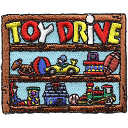 Toy Drive - Toys on Shelves (Iron On)