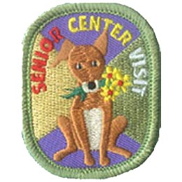 Senior, Flower, Daisy, Dog, Puppy, Patch, Embroidered Patch, Merit Badge, Crest, Girl Scouts, Boy Scouts, Girl Guides