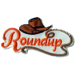 Roundup, Country, Western, Cowboy, Hat, Rope, Patch, Crest, Badge, Girl Scouts, Girl Guides, Boy Scouts