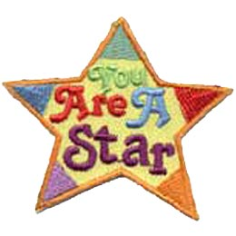 You Are A Star, Patch, Embroidered Patch, Merit Badge, Crest, Girl Scouts, Boy Scouts, Girl Guides