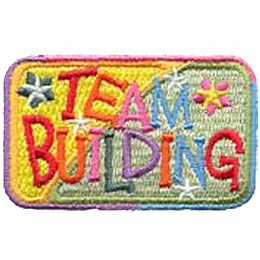 Team Building, Patch, Embroidered Patch, Merit Badge, Crest, Girl Scouts, Boy Scouts, Girl Guides