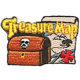 Treasure Map, Pirate, Skull, Scavenger Hunt, Pirates, Treasure, Treasure Chest, Patch, Merit Badge, Crest, Girl Scouts, Boy Scouts, Girl Guides