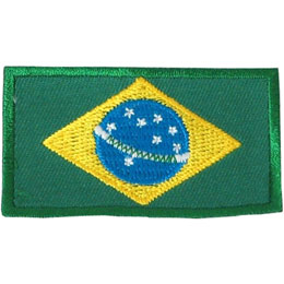 Brazil Flag (Iron On)