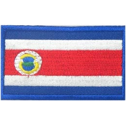 Costa Rica Flag (Iron On)