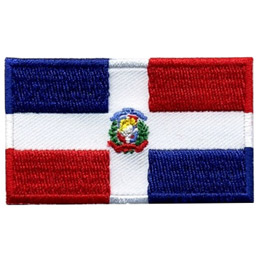 Dominican Republic Flag (Iron On)