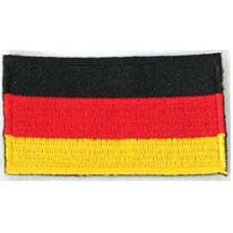 Germany (Plain) Flag (Iron On)