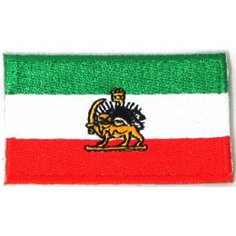 Iran (Lion) Flag (Iron On)
