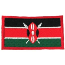 Kenya Flag (Iron On)