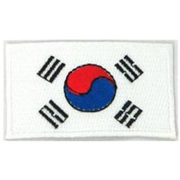 Korea, South Flag (Iron On)