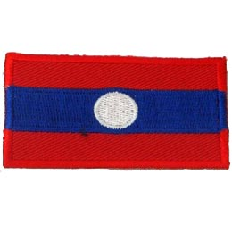 Laos Flag (Iron On)