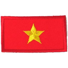 Vietnam, North Flag (Iron On)