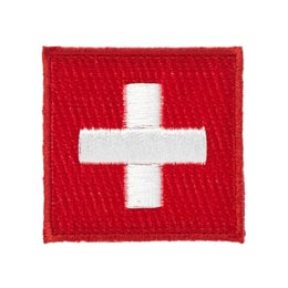 Switzerland Flag Square (Iron On)