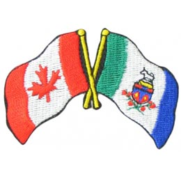 Canada, Yukon, Friendship, Flag, Country, Province, Patch, Embroidered Patch, Merit Badge, Iron On, Iron-On, Crest, Girl Scouts