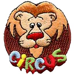 Circus, Lion, Patch, Embroidered Patch, Merit Badge, Crest, Girl Scouts, Boy Scouts, Girl Guides