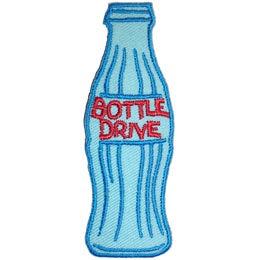 Bottle, Drive, Bottle Drive, Pop, Can, Soda, Patch, Embroidered Patch, Merit Badge, Crest, Girl Scouts, Boy Scouts, Girl Guides