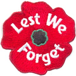 Lest We Forget - Poppy (Iron On)