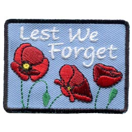 Lest We Forget - Poppies (Iron On) .