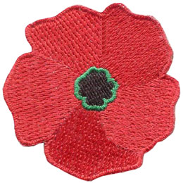Poppy iron on embroidered patch by e patches crests poppy remembrance day veteran remember lest we forget patch embroidered mightylinksfo
