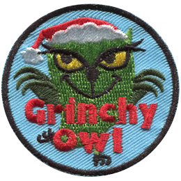 Grinchy Owl (Iron On)