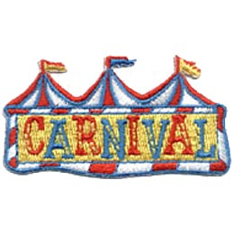 Carnival, Tent, Amusement Park, Flag, Big Top, Exhibition, Clown, Patch, Embroidered Patch, Crest, Merit Badge, Girl Scouts, Boy Scouts, Girl Guides