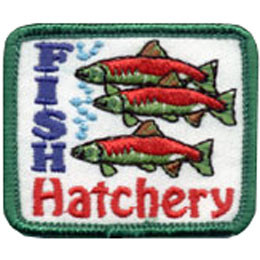 Fish Hatchery Embroidered Patch by E-Patches & Crests