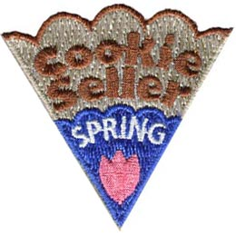 Cookie, Blitz, Seller, Spring, Tulip, Patch, Embroidered Patch, Merit Badge, Badge, Emblem, Iron On, Iron-On, Crest, Lapel Pin, Insignia, Girl Scouts, Boy Scouts, Girl Guides