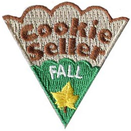 Cookie, Blitz, Seller, Spring, Fall, Flower, Leaf, Star, Heart, Patch, Embroidered Patch, Merit Badge, Badge, Emblem, Iron On, Iron-On, Crest, Lapel Pin, Insignia, Girl Scouts, Boy Scouts, Girl Guides
