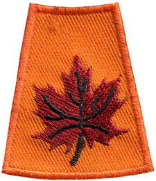 Season, Spring, Summer, Fall, Winter, Leaf, Leaves, Maple Leaf, Patch, Embroidered Patch, Merit Badge, Badge, Emblem, Iron On, Iron-On, Crest, Lapel Pin, Insignia, Girl Scouts, Boy Scouts, Girl Guides