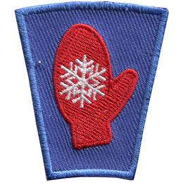 Season, Spring, Summer, Fall, Winter, Snow, Gloves, Mitten, Patch, Embroidered Patch, Merit Badge, Badge, Emblem, Iron On, Iron-On, Crest, Lapel Pin, Insignia, Girl Scouts, Boy Scouts, Girl Guides
