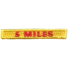 Rockers, 5, Five, Miles, Hiking, Hike, Boot, Stream, Mountain,, Patch, Embroidered Patch, Merit Badge, Badge, Emblem, Iron On, Iron-On, Crest, Lapel Pin, Insignia, Girl Scouts, Boy Scouts, Girl Guides