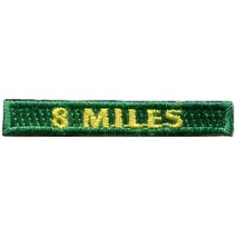 Rockers, 8, Eight, Miles, Hiking, Hike, Boot, Stream, Mountain,, Patch, Embroidered Patch, Merit Badge, Badge, Emblem, Iron On, Iron-On, Crest, Lapel Pin, Insignia, Girl Scouts, Boy Scouts, Girl Guides