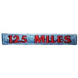Hiking, 125, Rocker, Mile, Path, Boots, Mountain, Stream, Patch, Embroidered Patch, Merit Badge, Badge, Emblem, Iron On, Iron-On, Crest, Lapel Pin, Insignia, Girl Scouts, Boy Scouts, Girl Guides