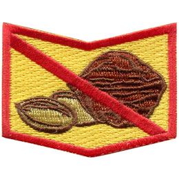Allergy, Allergen, Allergies, Shock, Peanuts, Nuts, Diary, Eggs, Milk, Fish, Shellfish, Patch, Embroidered Patch, Merit Badge, Badge, Emblem, Iron On, Iron-On, Crest, Insignia