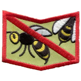 Allergy, Allergen, Allergies, Shock, Peanuts, Nuts, Diary, Eggs, Milk, Fish, Wasps, Bees, Patch, Embroidered Patch, Merit Badge, Badge, Emblem, Iron On, Iron-On, Crest, Insignia